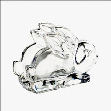 Machine pressed crystal rabbit kitchen paper towel holder