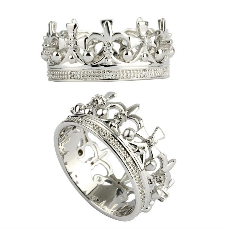 crown CZ ring 925 sterling silver ring