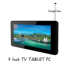 7 inch quad core wifi tablet with TV function Android 4.4 KitKat A33 DTV tablet pc 512MB/8GB