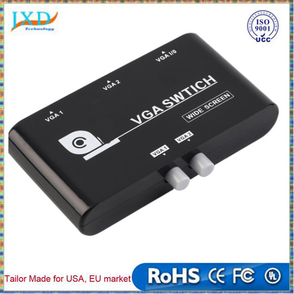 Original 2 In 1 Out VGA/SVGA Manual Sharing Selector Switch Switcher Box For LCD PC