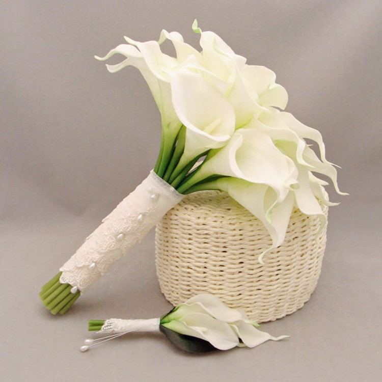 China Real Touch Bridal Bouquets Calla Lily