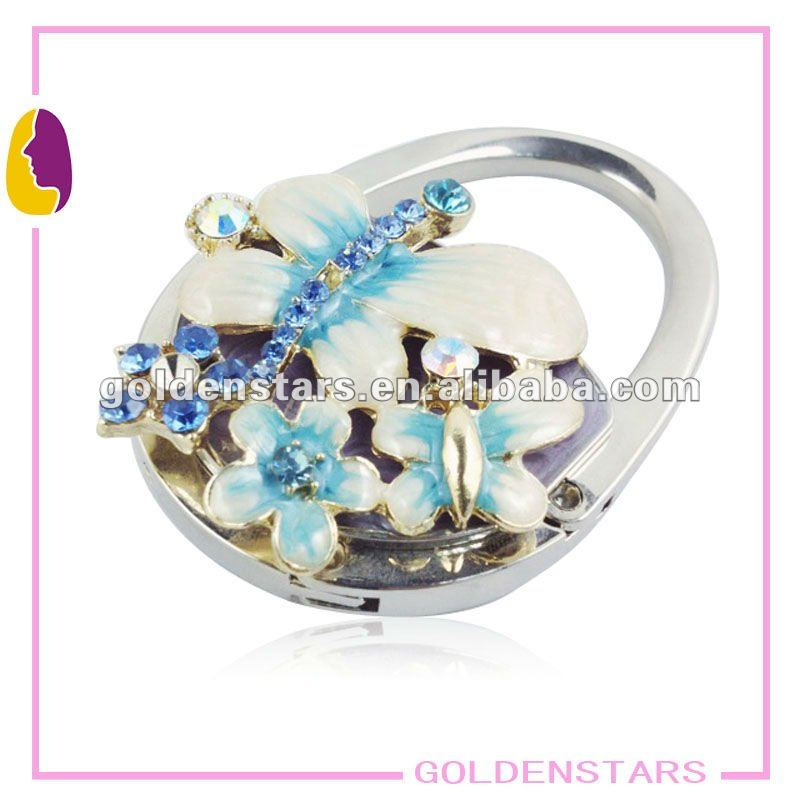2013 New butterfly designe novelty foldable purse hanger hook for table