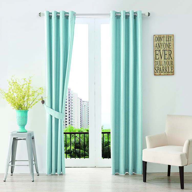 Thermal Insulated Grommet Top Fancy Window Drapes Blackout Curtain