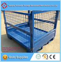 Heavy Duty Collapsible Wire Mesh Pallet Storage Cages