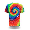Shenzhen clothing colorful tie dye rainbow t-shirt