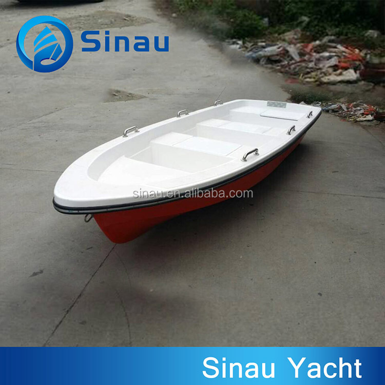 4.5M small frp speed working boat 8 persons small fiberglass ferry boat for sale