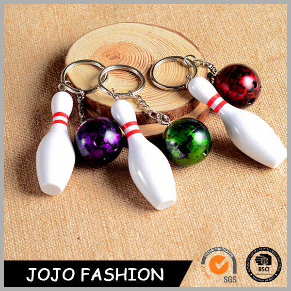 Promotion Gift Korean Style Custom Bowling Ball Cheap Plastic Keychain