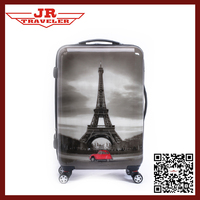 abs / polycarbonate trolley luggage/hard trolley bag/pc printing luggage