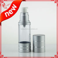 silver airless bottle with spray top vacuum bottle of oil/serum/perfume/Fragrance