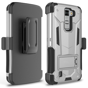 2016 trending products!!!Top Quality Hybrid Dual Layer Protective Hard Defender Case for LG K7 , Holster Clip Cell Phone Case