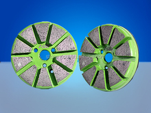 "4"" Pole Backed Concrete Ruff Grinding Pad"