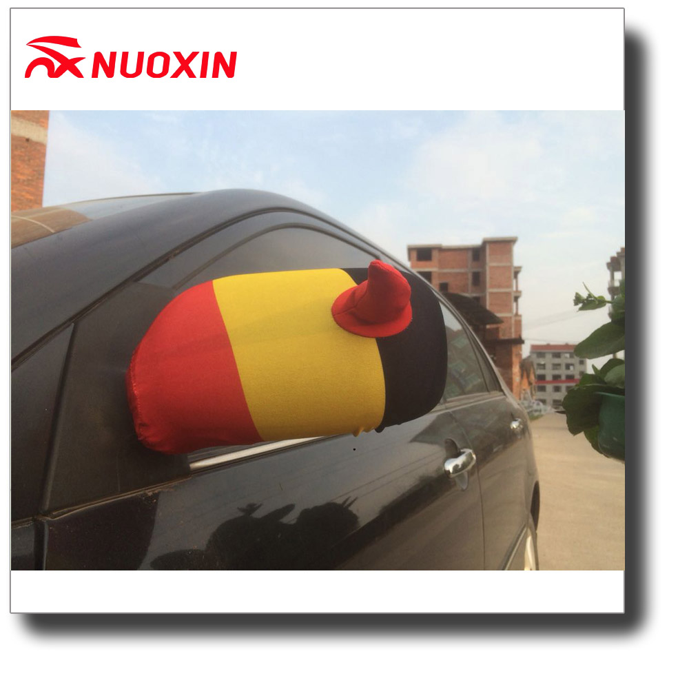 100% custom printed car mirror cover flag