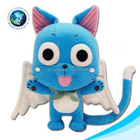 Soft cute funny blue easter gift cat toy stuffed cat plush pattern
