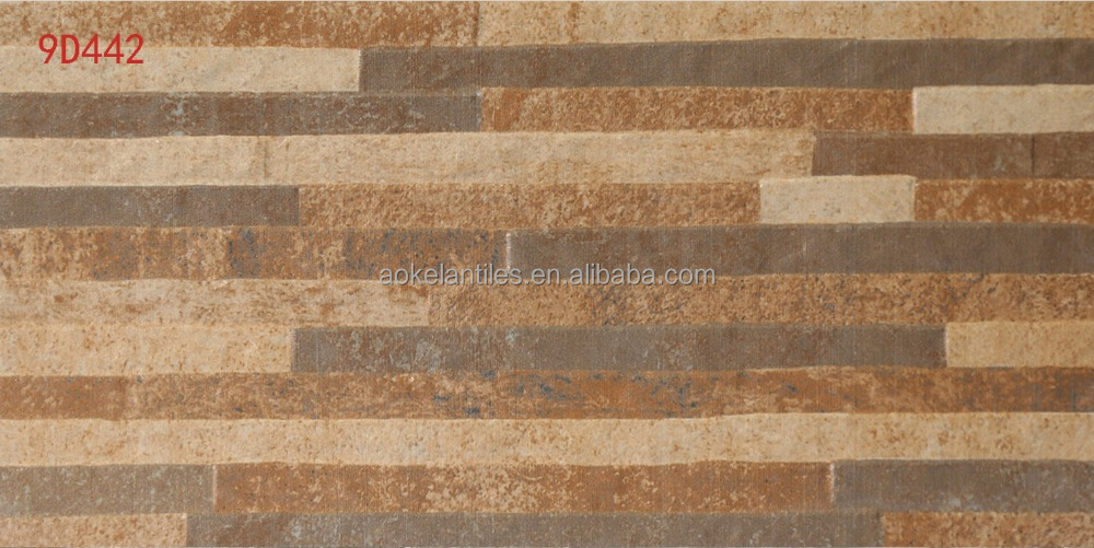 20x40cm stone like rustic 3d exterior wall tile
