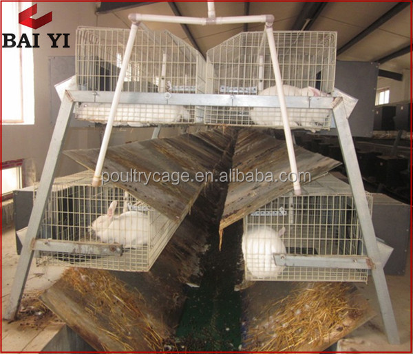 Luxury Outdoor Double Rabbit Hutch Design / Rabbit House /Rabbit Cage