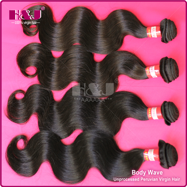 H&J Hot Sale Beauty Queen Hair Product Wholesale Peruvian Hair