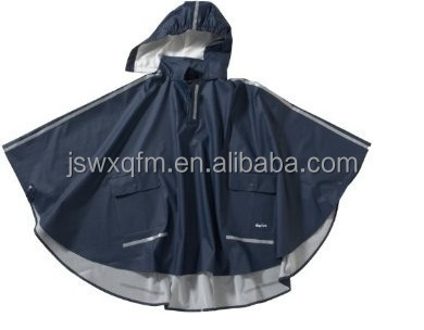 nylon pu waterproof poncho polyester rain cape