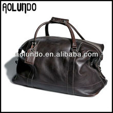 Classical designed excellent craft genuine cow leather duffle bag for men travel bag