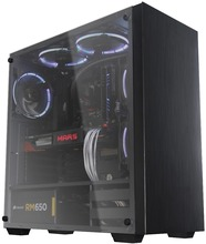 Wholesale High Quality Black ATX Midi Tower Tempered Glass Gaming Case