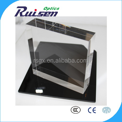 25.4mm thickness bk7 colorless optical glass