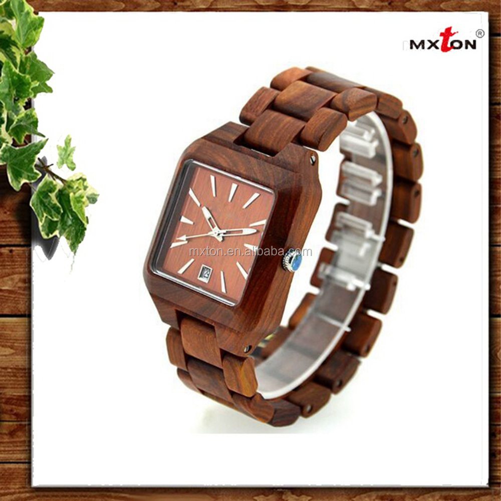 Best Quality Power Reserve Custom Tag Wood Face Watch
