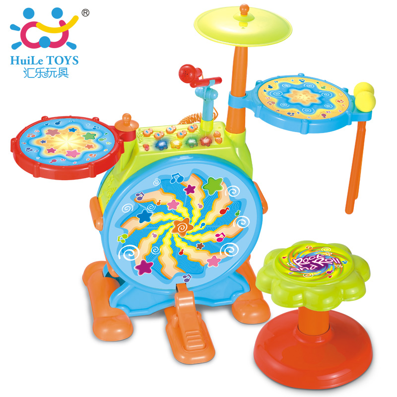 Huile hight quality supplier EN71 guangdong jazz drum baby child toys 666