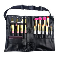 Professional Cosmetic Makeup Brush Waist Bag with Artist Belt Strap