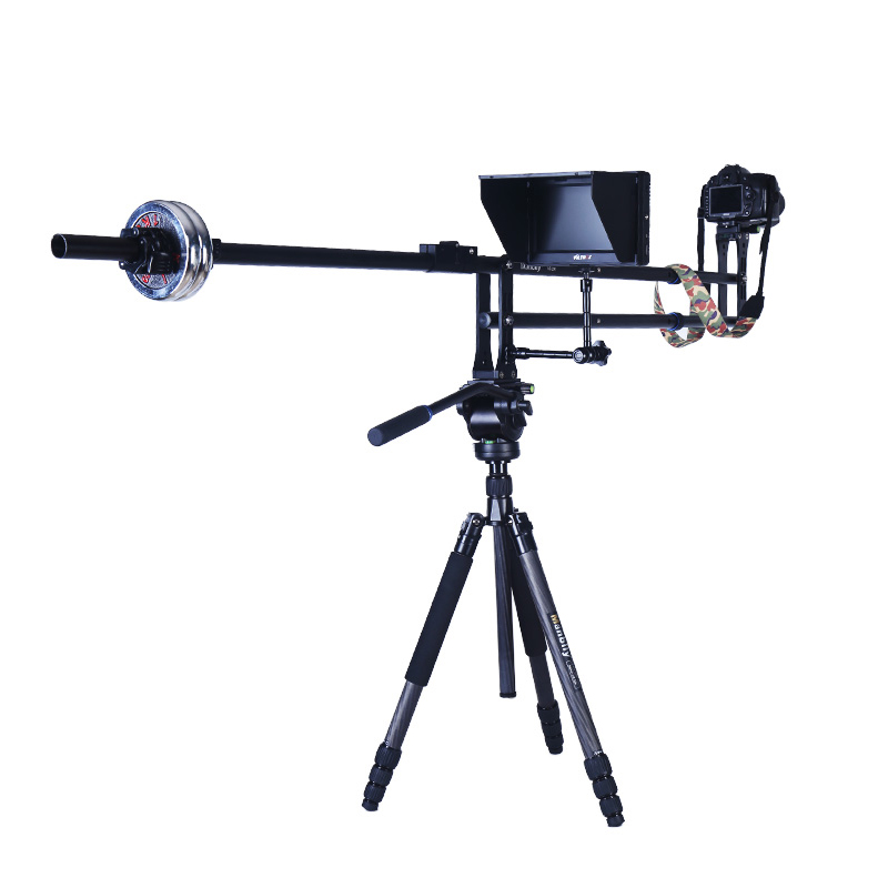 Manbily VS-200 6.4ft Photography Crane Jib Arm Slider Rail Foldable Mini DSLR Camera Video DV