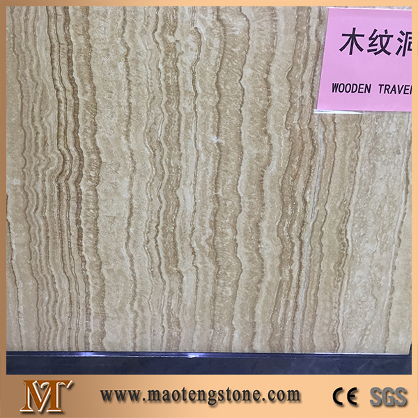 Best quality wall and floor tiles and slabs wooden travertine marble