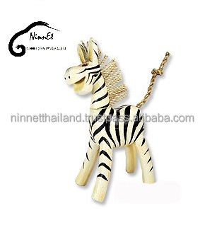 Crafts wooden Zebra from Thailand