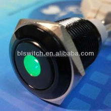 16mm metal momentary or latching qn19-b2 (19mm)ring metal illuminated pushbutton