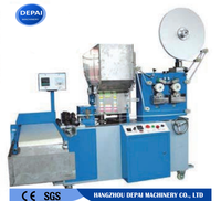 Single piece PP plastic drinking straw paper packaging machine with counting and print