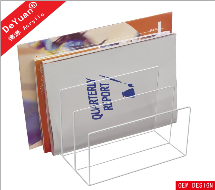 3 Tiers Acrylic Open Book Reading Stand / Brochure Holder