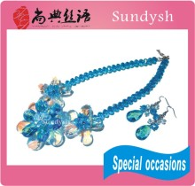 trendy fantasy blue sky funky urban big and chunky exotic lovely bling bling china crystal best imports wholesale jewelry