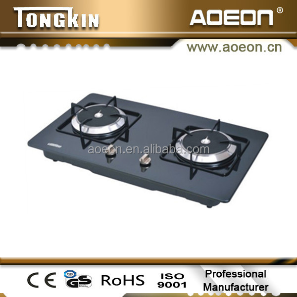 HW226C Two Burner Stainless Steel Gas Stove/Built-in Infrared Gas Cooktops/Gas Range