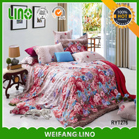 4pcs cotton print luxury bed sheet branded