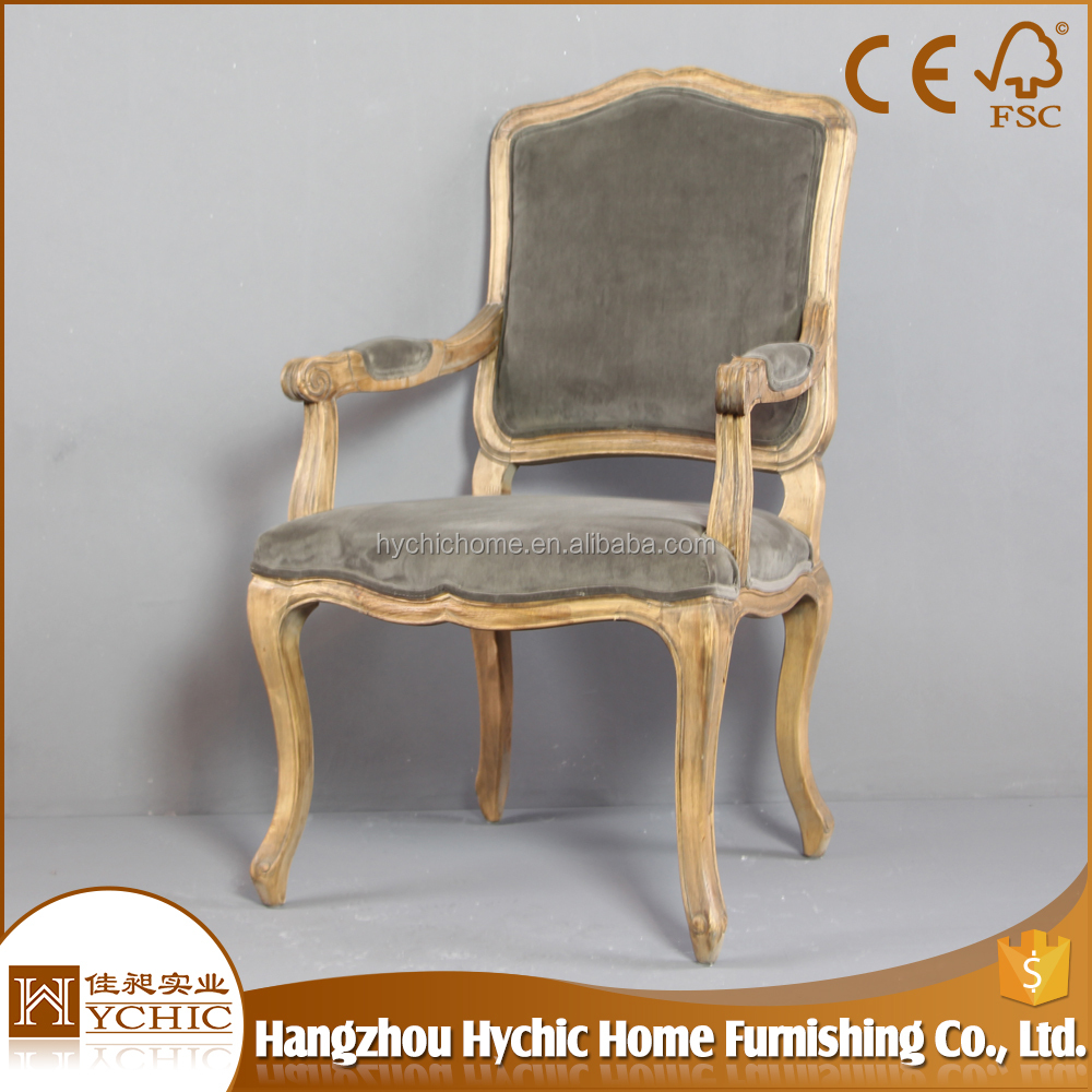Wood Cross Back Fabric Armchair Leather Dining Chair