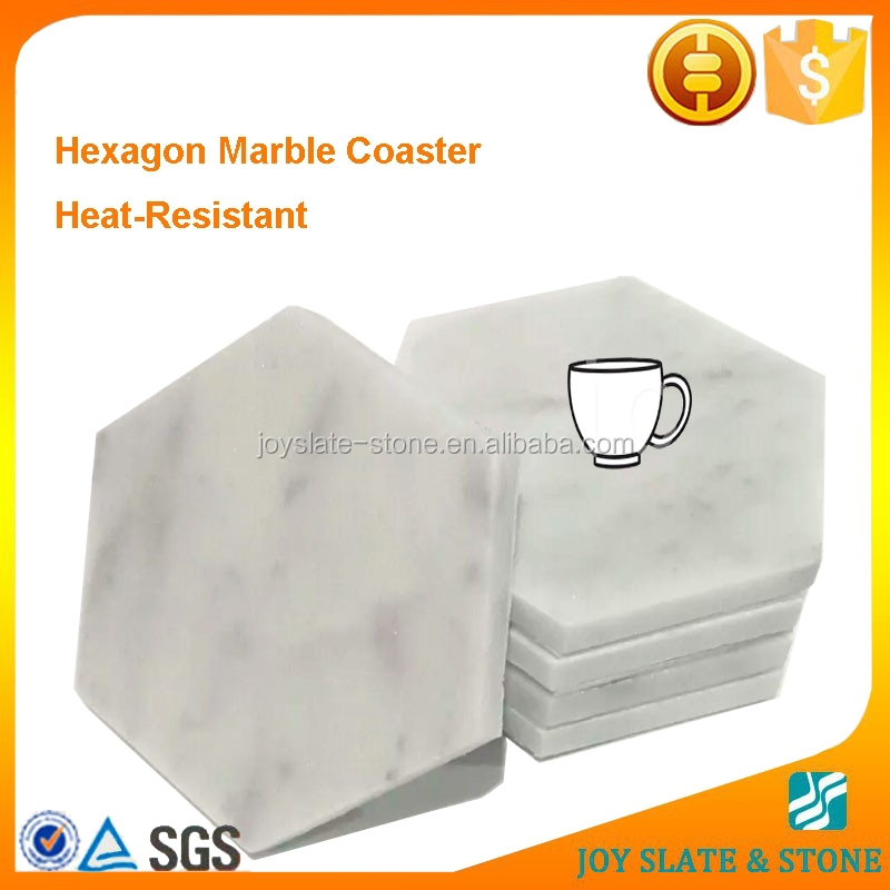 Home decoration fashion polished marble table mats modern coasters