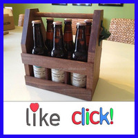 6 Pack Wooden Beer Bottle Carrier