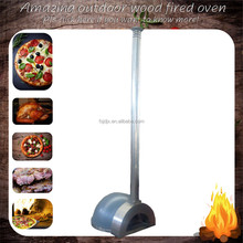 New wood fired burning oven Stainless steel outdoor oven stainless steel chimney pizza baker