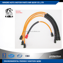 High voltage silicone Ignition wire set, ignition cable kit, spark plug wire for SUZUKI ALTO 800cc for Pakistan