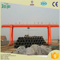 Ground Traveling Single Beam/Girder Gantry Crane with Electric Hoist