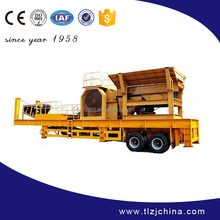 High efficiency mobile jaw crusher, mobile crushing plant for sale