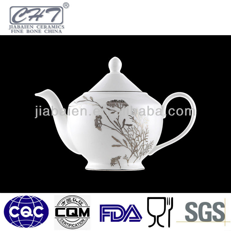 A036 Antique wholesale sliver decorative porcelain coffee water pot