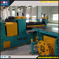 Coil slitting and rewinding machine for steel