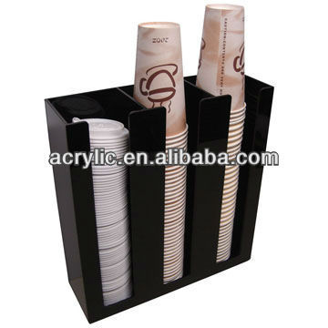 2013 fantastic Acrylic coffee and fruit juice paper cup holders