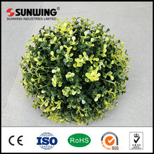 faux boxwood topiaries artificial ball large leaves fence