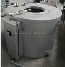 150kgs small and new tiltable crucible melting and holding aluminum electric and gas furnace for die casting machine