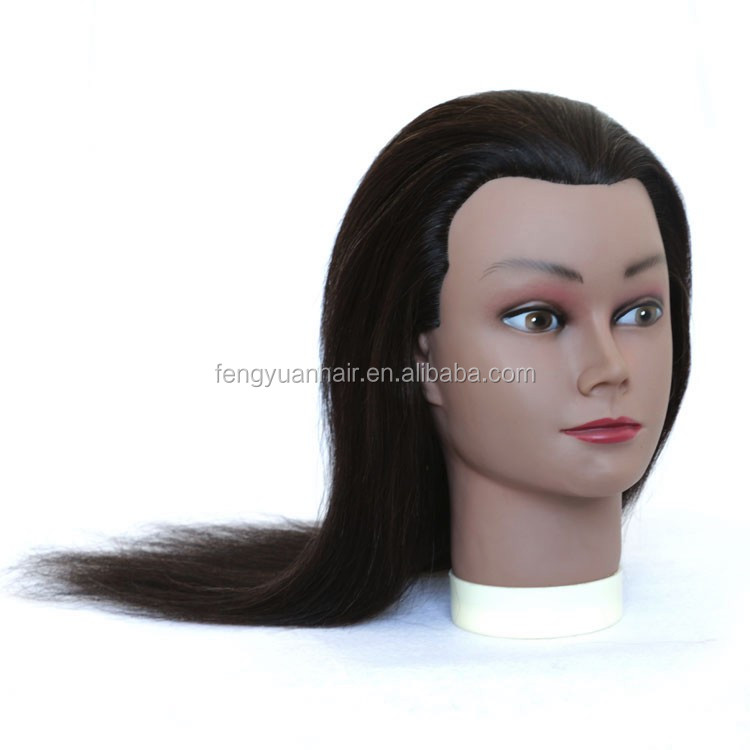 wholesale cheap human hair mannequin head cheap Salon training head