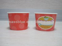 100% Biodegradable Custom Printed Frozen Yogurt Packing Cup